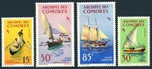 Comoro Isls 61-62,C10-C11,MNH.Michel 61-64. Ships 1964.Canoe,Felucca,Pirogue,