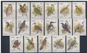 CISKEI 17 SETS BIRDS OF PREY PARROTS OWLS X1