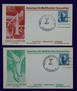 American AirMail Society Convention Philadelphia PA 1954 Philatelic Expo card