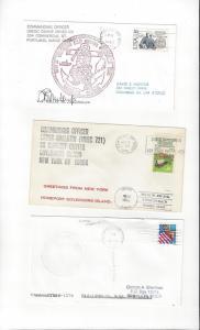 US Coast Guard Covers USCGC Duane (CO signed), Gallatin + One