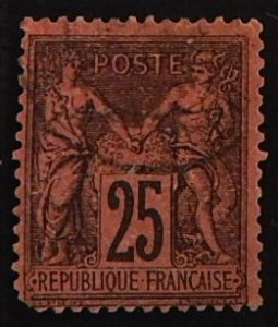 France, 1877-1900, Pax and Mercur, YT #93 A15, (2157-Т)