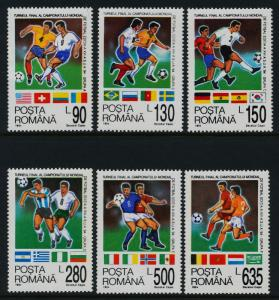 Romania 3923-9 MNH Sports, World Cup Soccer, Football, Flags, Statue of Liberty