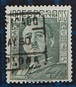 Spain, 90 Cts, 1946, Definitive Issue - General Franco, Espana (2556-Т)