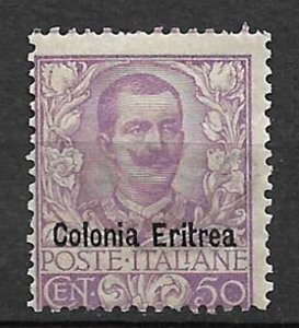 COLLECTION LOT OF #23 ERITREA # 27 1903 VERY LIGHT HINGED CV=$475 2 SCAN