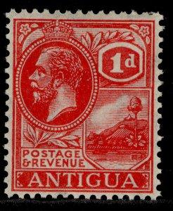 ANTIGUA GV SG63, 1d carmine red, M MINT.