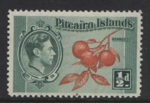 Pitcairn Is. - Scott 1 -Definitives - 1940 - MNH - Blue Grn & Org - 1/2d Stamp4