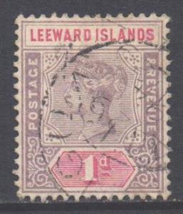 Leeward Is Scott 2 - SG2, 1890 Victoria 1d used