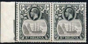 St Helena SG97 1/2d Grey and Black U/M PAIR