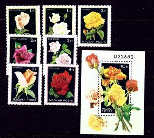Hungary 2735-42 MNH 1982 Flowers
