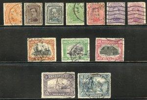 Belgium Scott 108-14,116-20 UFH - 1915-1920 Short Set - SCV $5.15