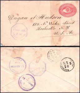 Goldpath: Guatemala early postal stationery 1896, to U.S.A.  _CV23_P11