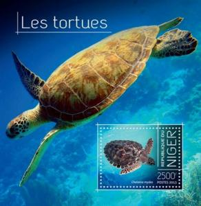 Niger 2013 African Sea and Land Turtles Stamp Souvenir Sheet 14A-355