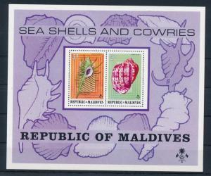 [36720] Maldives 1975 Marine life Seashells Souvenir Sheet MNH