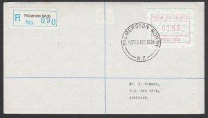 NEW ZEALAND 1986 $1.55 Frama Registered FDC ex Palmerston North.............B279