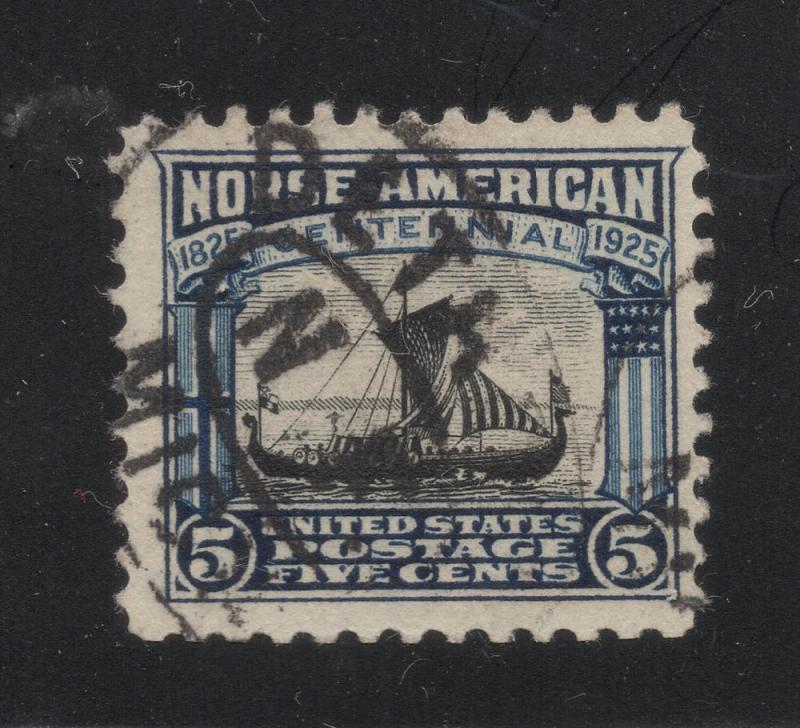 US#621 Dark Blue & Black - Norse American Centennial - Used