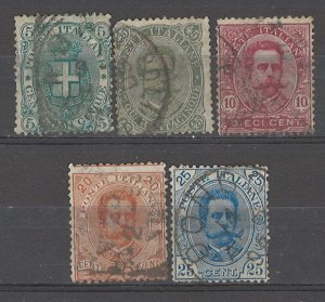 COLLECTION LOT # 5387 ITALY 5STAMPS 1889+ CV+$25