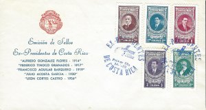 Costa Rica Tribute to the Ex-Presidents, Portraits Sc C790-C794 FDC 1980