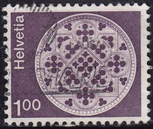 Switzerland 569 USED 1973 Lausanne Cathedral