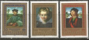 LIECHTENSTEIN 817-819 MNH, PAINTINGS FROM PRINCELY COLLECTIONS