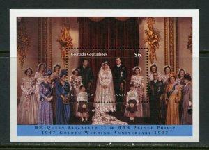GRENADA GRENADINES GOLDEN WEDDING QUEEN ELIZABETH II &  PHILIP S/SHT MINT NH