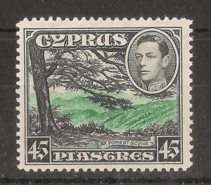 Cyprus 1938 45pi SG161 MNH Cat£55