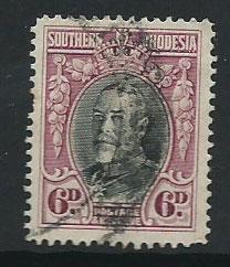 Southern Rhodesia SG 20b  FU perf 14