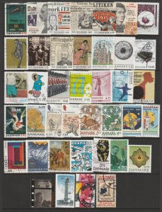 Denmark a small lot of moderns mainly used