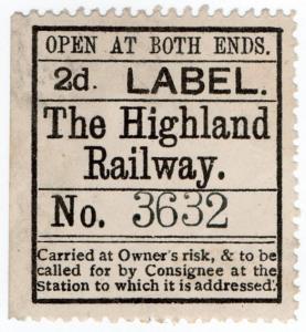 (I.B) The Highland Railway : Newspaper Parcel 2d