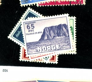 NORWAY #B57-61 MINT VF OG LH Cat $30