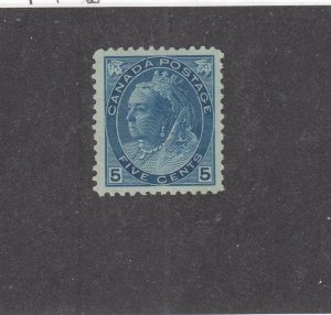 CANADA (KSG844) # 79  VF-MLH  5cts  VICTORIA NUMERAL ISSUE / BLUE CAT VALUE $300