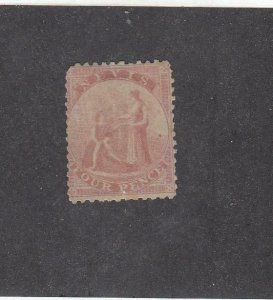 NEVIS (MK2656)  # 6  F-MH  4p  1861 MEDICINAL SPRING / DULL ROSE CAT VALUE $175