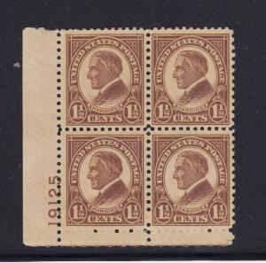 633 VF plate block original gum mint never hinged with nice color ! see pic !