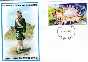 Eynhallow Holy Island (Scotland) 1979 Sea Shells ovpt.Year of the Child S/S FDC
