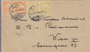 1922, Budapest, Hungary to Wein, Austria, See Remark (24379)