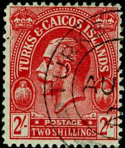 TURKS & CAICOS ISLANDS SG174, 2s, FINE USED, CDS. Cat £100. WMK MULT CA