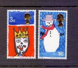Great Britain 1966 MNH Christmas snowman complete