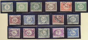 Belgium Stamp Scott #J19//J36, 16 Different Postage Due, Four Mint Rest Used ...
