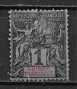 French Guinea 1 1892-1900 1c Navigation and Commerece single MH