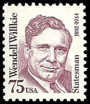 PCBstamps    US #2192 75c Wendell Willkie, 1992, MNH, (1)