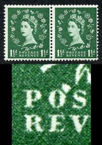 S26q 1 1/2d Green Edward Wmk with Flaw over O of Postage Pair M/M (ebay 1)