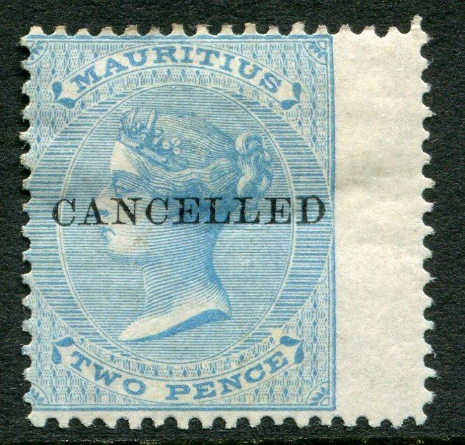 MAURITIUS ~ #33 Very Nice Mint Light Hinged Issue CANCELLED OVERPRINT ~ S5477
