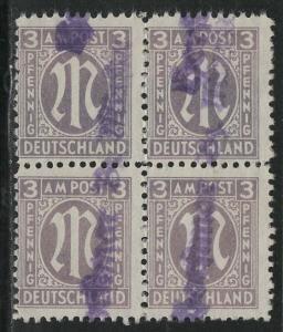 Germany AM Post Scott # 3N2, used, b/4