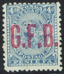 TONGA 1893 GFB OFFICIAL ON KING 4D