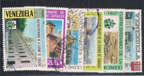 Venezuela C977-82 Set Used 400th anniv of Caracas (V0267)