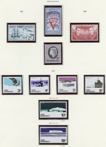NEW ZEALAND ROSS DEPENDENCY  SC#L5/36  ON PAGES MINT NH SCOTT $87.30