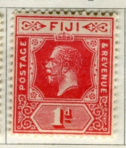 FIJI; 1922-27 early GV issue fine Mint hinged 1d. value