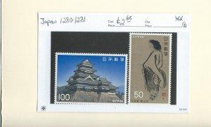 Japan 1280-1281  MNH