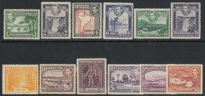 British Guiana, Sc 230-241 (SG 308-319), MLH/HR, perf vars