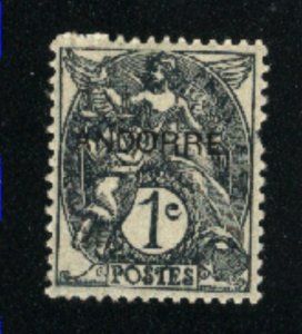 Andorra - French Administration #1 -! Mint NH VF 1931 PD