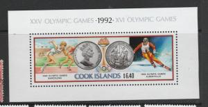 Cook islands 1990 Olympic Games MS UM SG MS1245